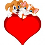 valentine-cat-and-dog-sign-vector